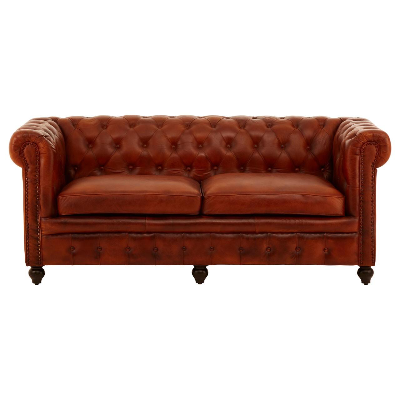 Buffalo 3 Seater Sofa leather Red